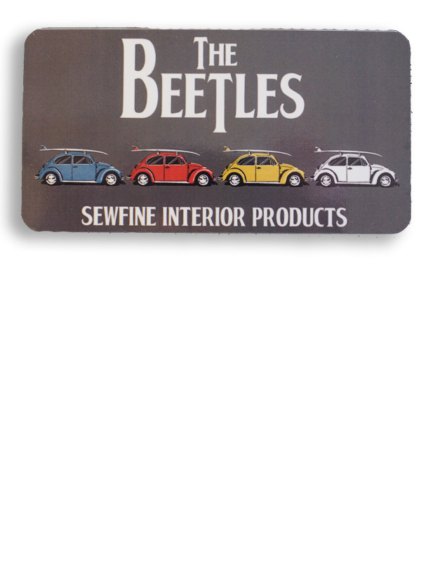 Beetles Surf Bugs Sticker
