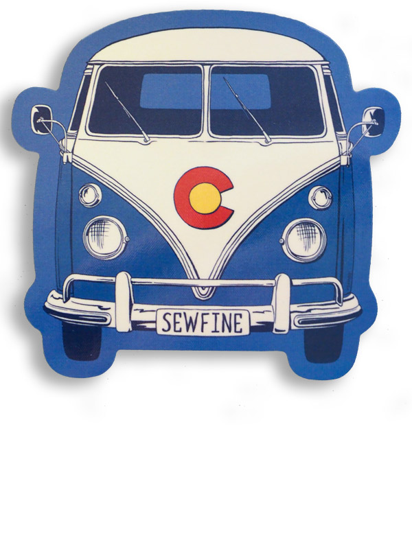 Colorado vw bus sticker
